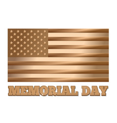 memorial day gold united states of america flag vector image vector image