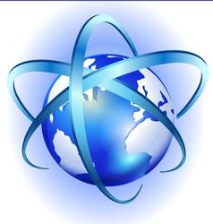 Spinning globe logo vector image