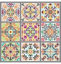 Square Decorative Tiles Set vector image