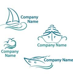 yachting logo vector image