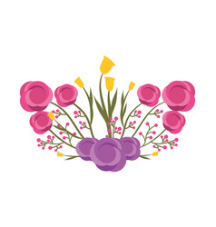 beautiful floral bunch of flowers arrangement vector image