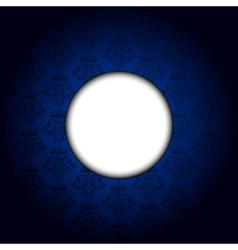 blue tapet white frame vector image vector image