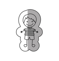 figure nice boy icon vector image