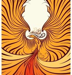 Golden Phoenix vector image