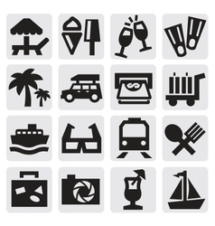 rest icons vector image vector image