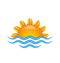 sun and sea for logo abstract creative concept vector image vector image