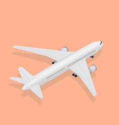 3d isometric plane high quality transport flight vector image