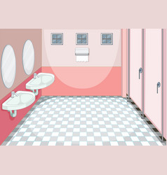A clean toilet background vector
