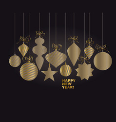 abstract luxury minimal christmas baubles vector image