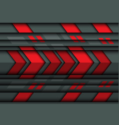 abstract red arrow speed on gray metal 3d vector image