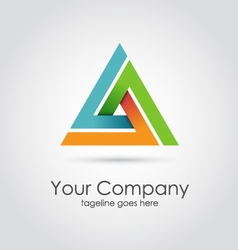 Abstract triangle company logo vector image
