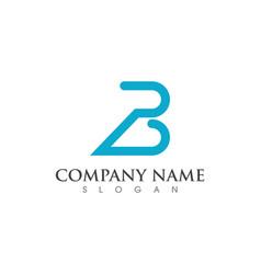 b letter logo vector image