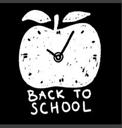 back to school poster with apple education label vector image