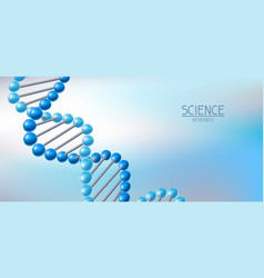 Background with dna molecules structure vector