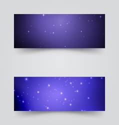 Banners with the starry sky vector image