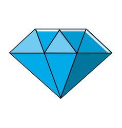 Beautiful gem diamond to luxury use vector