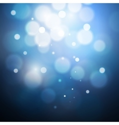 blue bokeh background created by lights vector image