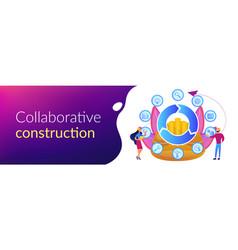 Building information modeling concept banner vector
