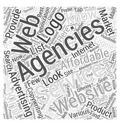 BW Low cost internet advertising agencies Word vector image