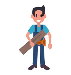 Carpenter professional character cartoon vector