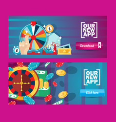 casino application advertisement banner vector image