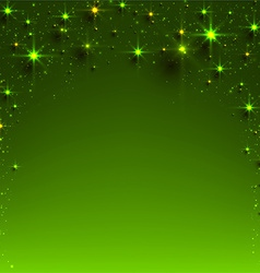 Christmas green starry background vector