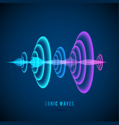 Color abstract digital sound wave sine wave on vector