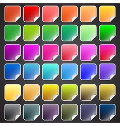Colorful square buttons vector image