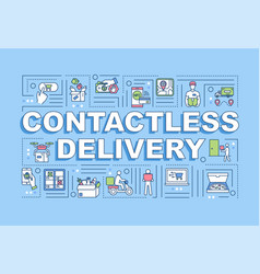 Contactless delivery word concepts banner vector
