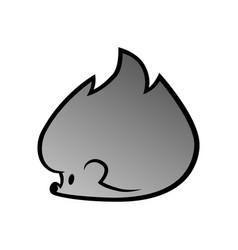 cute cartoon hedgehog symbol icon vector image