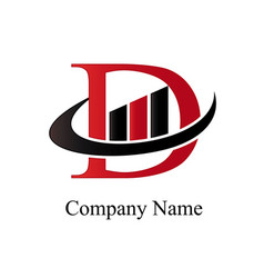 d financial logo vector image