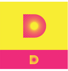D logo sunrays monogram sun yellow resort tourism vector