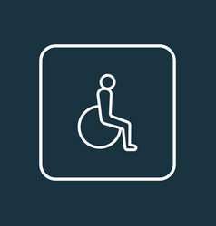 disabled outline symbol premium quality isolated vector image