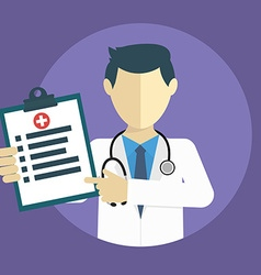 doctor showing diagnoses flat design vector image