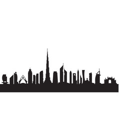 dubai silhouette by day vector image