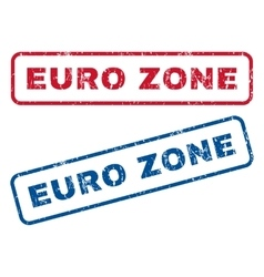 Euro Zone Rubber Stamps vector