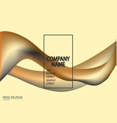 fluid shapes isolated on gold background wavy vector image