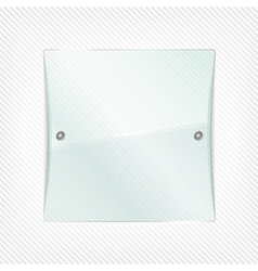 glass board vector image vector image