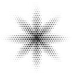 halftone abstract spot dotted halftone vector image