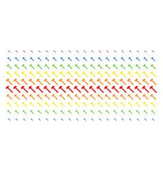Hammer shape halftone spectrum grid vector