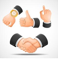 Handshake and hand gestures vector