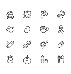 Healthy element black icon set2 on white backgroun vector