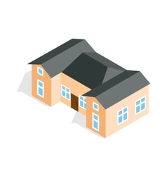 House with two outbuildings icon vector image