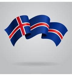 Icelandic waving Flag vector image