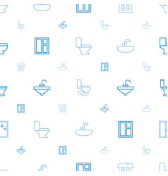 indoor icons pattern seamless white background vector image