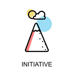initiative icon on white background design vector image