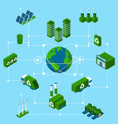Innovative green technologies vector