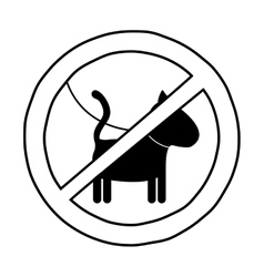 Isolated dog road sign design vector