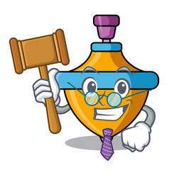 Judge spinning top mascot cartoon vector