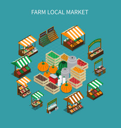 local market round composition vector image